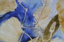 Archeopteryx (Eitempera, Blattgold)