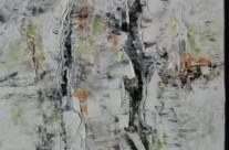 Birkenrinde (Öl auf Leinwand)