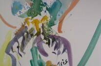 Blütenteile einer Iris
