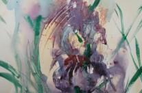 Iris abstrahiert