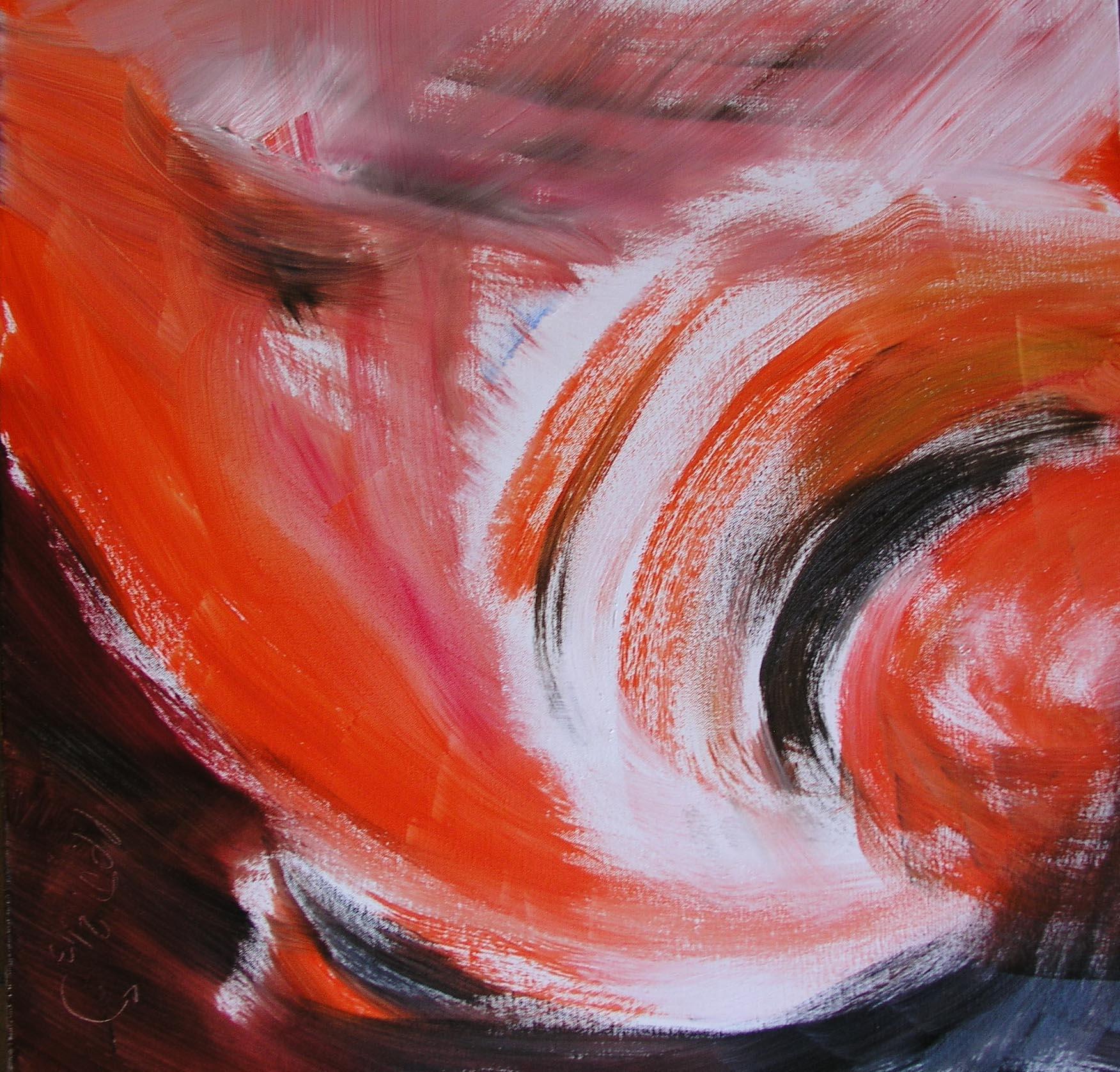 Welle (Ölfarbe/Leinwand)